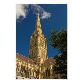 Spire of Salisbury Cathedral Photograph