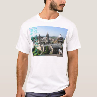 Spires of Oxford poem by: Winifried Mabel Letts T-Shirt