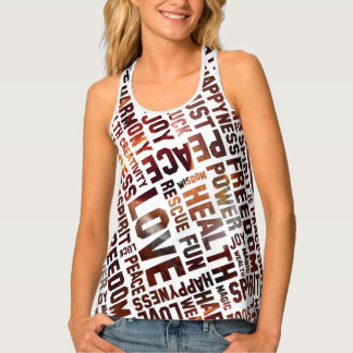 Spirit Affirmations of life - universe Tank Top