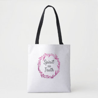 Spirit and Truth - Redeemed by Love Tote Bag
