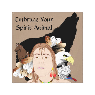 Spirit Animal   30.48cm x 30.48cm, 3.81cm Canvas Print