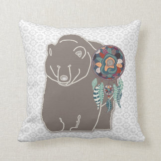 Spirit Bear Two-Sided Native American Tribal Cushion