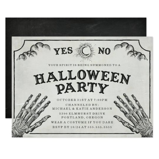 Spirit Board   Halloween Party Invitation