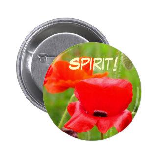 Spirit buttons Red Oriental Poppy Flower