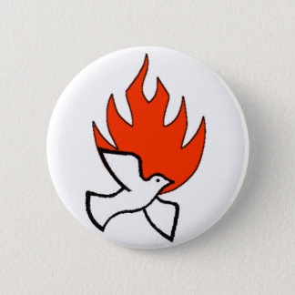 spirit & fire 6 cm round badge