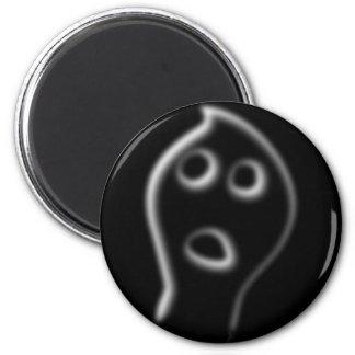 Spirit ghost head 6 cm round magnet