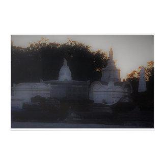 Spirit Glow Cemetery Canvas Acrylic Wall Art