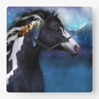Spirit Horse Fantasy Art Wall Clock