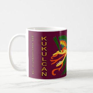 SPIRIT KUKULCAN- MIDNIGHT RED BACKGROUND- CANCUN COFFEE MUG