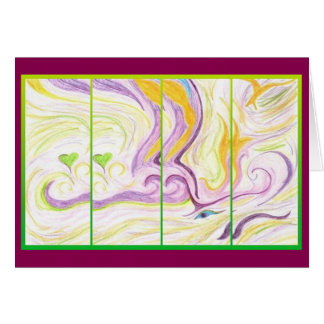 Spirit Love Abstract Art Greeting Card