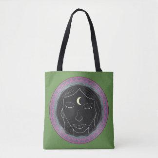 Spirit Meditation Girl Tote Bag