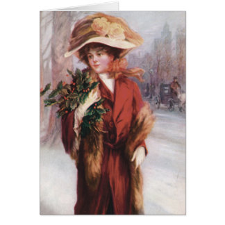 """Spirit of Christmas"" Vintage Greeting Card"