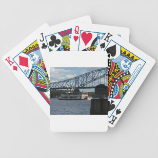 Spirit of Dubuque on Mississippi River Bicycle Playing Cards