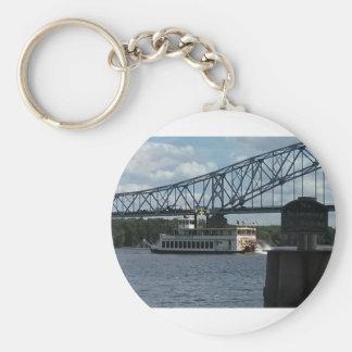 Spirit of Dubuque on Mississippi River Key Ring