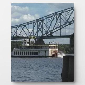 Spirit of Dubuque on Mississippi River Plaque