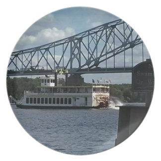 Spirit of Dubuque on Mississippi River Plate