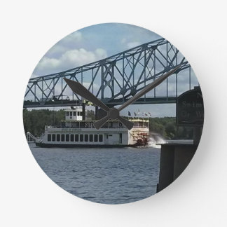 Spirit of Dubuque on Mississippi River Round Clock