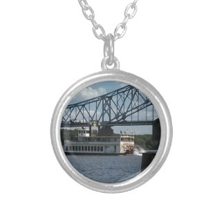 Spirit of Dubuque on Mississippi River Silver Plated Necklace