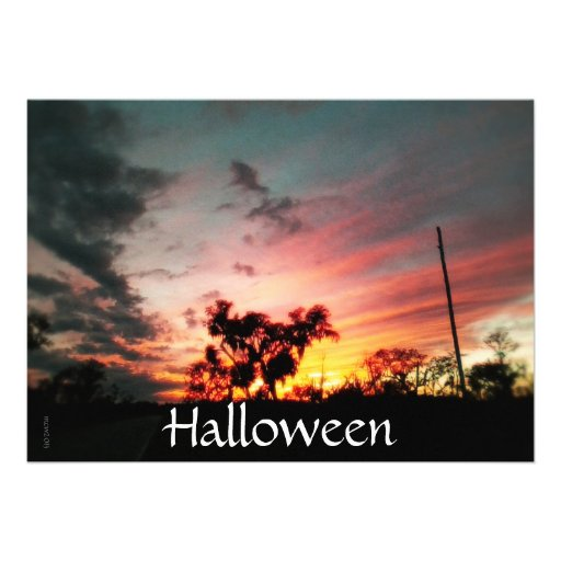 Spirit of Samhain Halloween Invitation Personalized Announcements