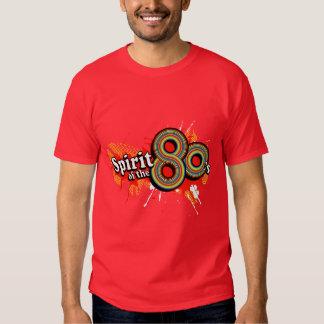 """Spirit of the 80's"" mens multi-colour logo t red Tee Shirt"