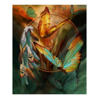 Spirit Of The Butterfly Art Poster/Print Poster