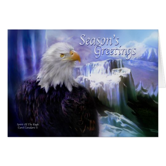Spirit Of The Eagle Holiday Greeting Card