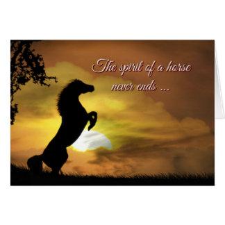 Spirit of the Horse Sympathy Memorial Spiritual Card