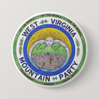 """Spirit of the Mountain Party"", 3 in. button"