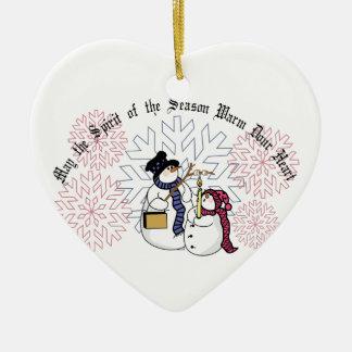 Spirit Of The Season Ceramic Heart Decoration