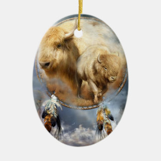 Spirit Of The White Buffalo Art Ornament