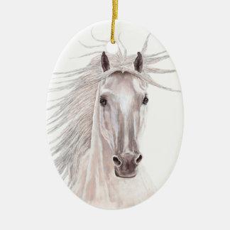 Spirit of the Wind Horse -vintage- Ceramic Oval Decoration