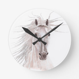 Spirit of the Wind Horse -vintage- Clock