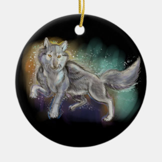 Spirit of the Wolf Ceramic Ornament