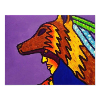 Spirit of Wolf 3 by Piliero 11 Cm X 14 Cm Invitation Card