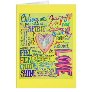 Spirit Prayer Inspirational Angel Greeting Cards
