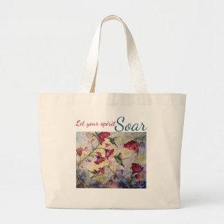 Spirit Soar Hummingbird Watercolor Art Tote Bag