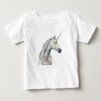 Spirit Unicorn with Flowers Around Neck Baby T-Shirt
