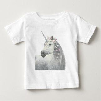 Spirit Unicorn with Flowers in Mane Baby T-Shirt