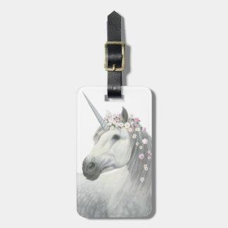 Spirit Unicorn with Flowers in Mane Luggage Tag