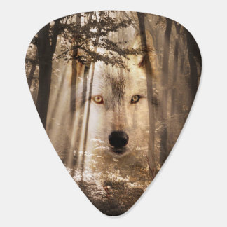 Spirit wolf in woods plectrum
