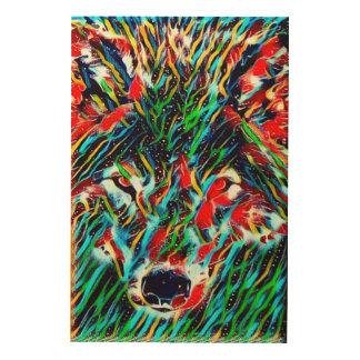 Spirit Wolf Indie Art Wood Canvas