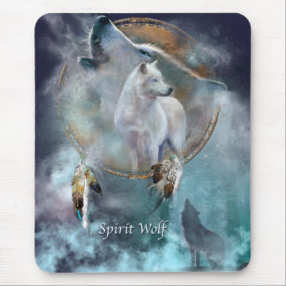 Spirit Wolf Mouse Pads