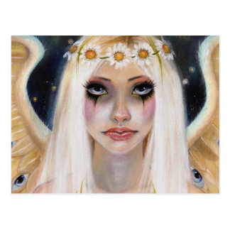 Spirited Away - Blonde Angel with a daisy crown Postcard