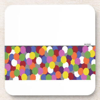 Spirited Dots of Color Coaster
