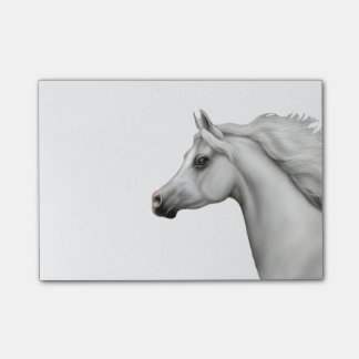 Spirited Grey Arabian Horse Post-it Notes