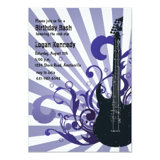Spirited Guitar Invitation