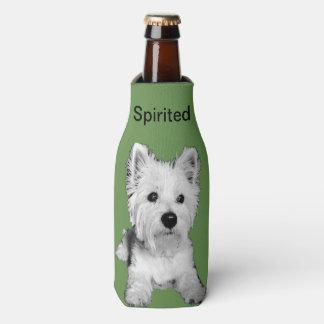 Spirited Westie bottle sleeve Bottle Cooler