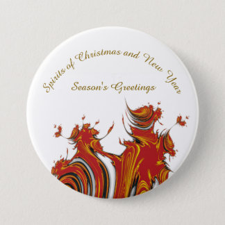 SPIRITS OF CHRISTMAS AND NEW YEAR 7.5 CM ROUND BADGE