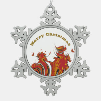 SPIRITS OF CHRISTMAS SNOWFLAKE PEWTER CHRISTMAS ORNAMENT