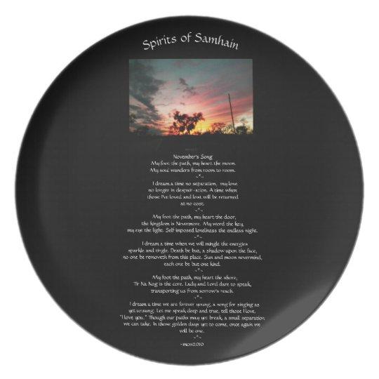 Spirits of Samhain Plate